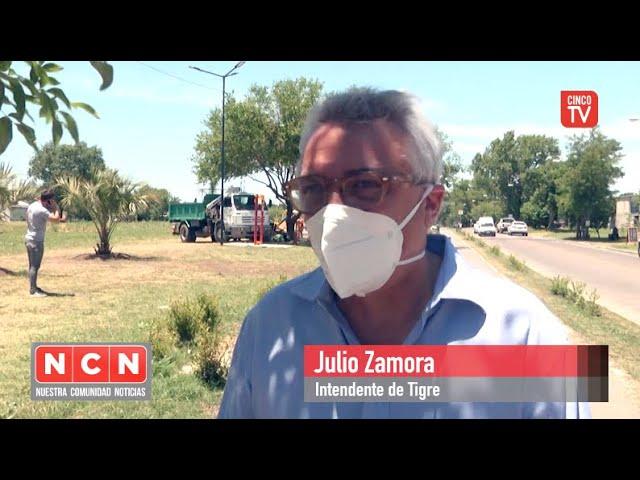 CINCO TV - Julio Zamora monitoreó obras del Municipio en materia de deportes y educación