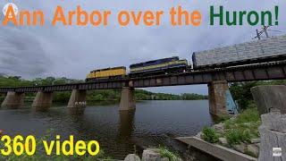 Ann Arbor Railroad in Virtual Reality! (360 Video)