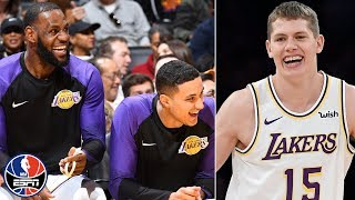The Los Angeles Lakers bench went wild after rookie Moritz Wagner scored his first points in the NBA. ✓ Subscribe to NBA on ESPN on YouTube: ...