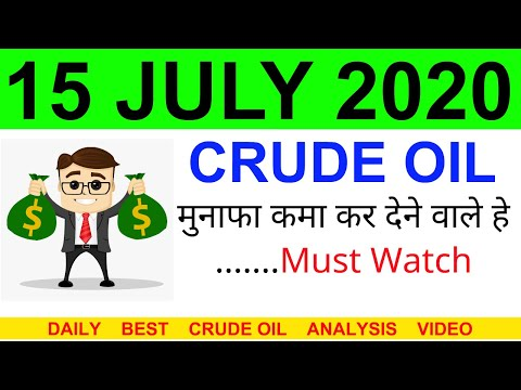 Crude oil complete analysis for 15 JULY 2020 | crude oil strategy | intraday strategy for crude oil