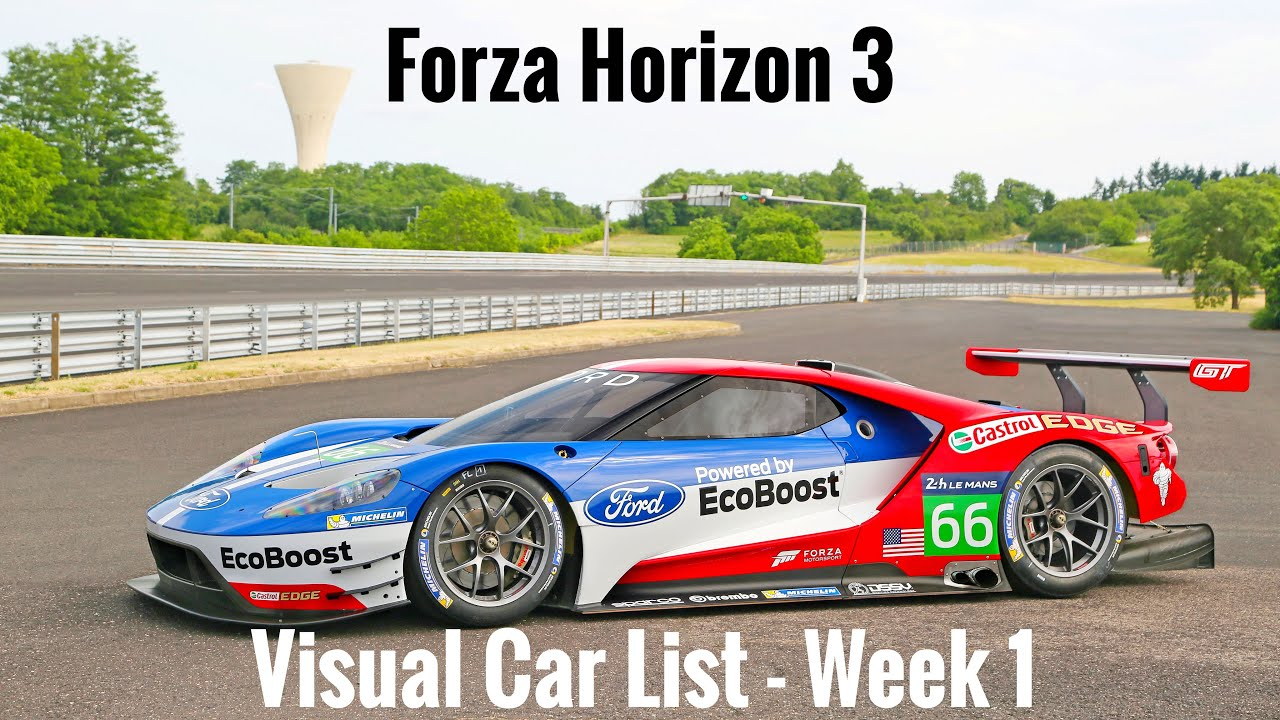 Forza Horizon Visual Car List Week Youtube