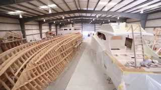 Paul Mann Custom Boats: 58-foot ALINA Construction to Completion
