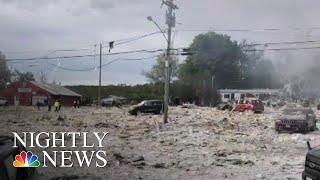 Massive Gas Explosion Kills Firefighter, Injures Several Other People | NBC Nightly News