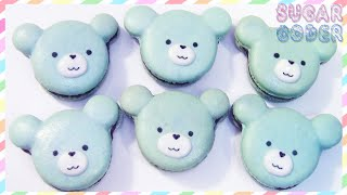 BEAR MACARONS COOKIES, KAWAII DESSERT IDEAS