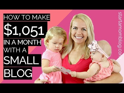 How to make $1051 in a month with a small blog