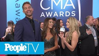 Brett Young On What Was Going On His Head When His Wife Walked Down The Aisle | CMAs 2018 | PeopleTV