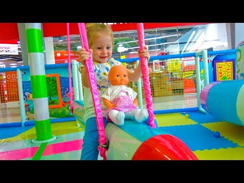 Indoor Playground with baby Born Doll Fun Playtime Family Fun play area for kids Nursery Rhyme Song