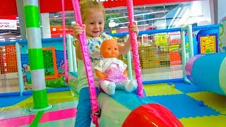Stacy and Indoor Playground with baby Doll / Fun Playtime thumbnail