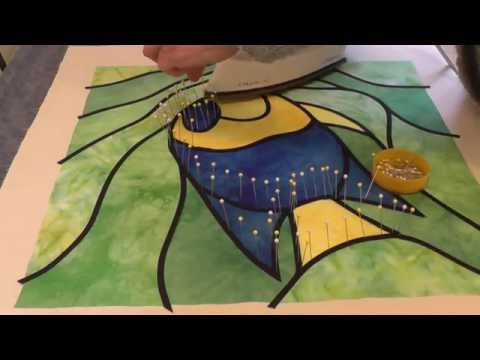 Stained Glass Appliqué using bias tape - with Deborah Wirsu