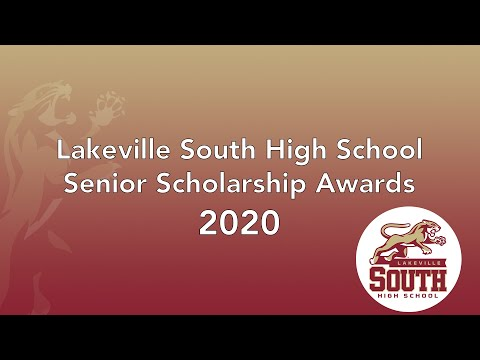 Lakeville South High School Senior Scholarship Awards 2020