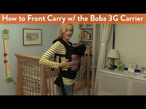 How To Front Carry With The Boba 3g Carrier Cloudmom Youtube