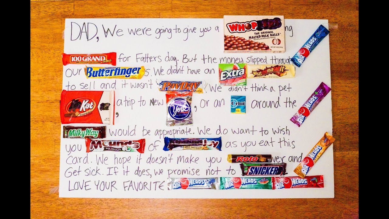 Fathers Day Candy Poster - YouTube