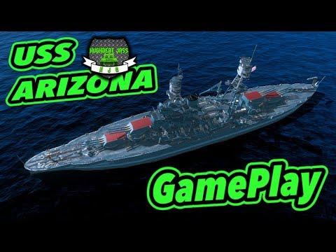 World Of Warships BLITZ - USS Arizona - GamePlay