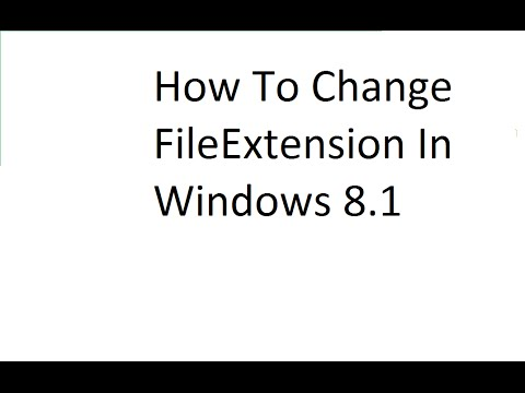 how to change the inig of a filel in windoes
