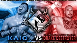 Pro Wrestling Live 1! Part 3/7 - Kaio vs Drake Destroyer - SWISS HEAVYWEIGHT CHAMP. MATCH (2012)