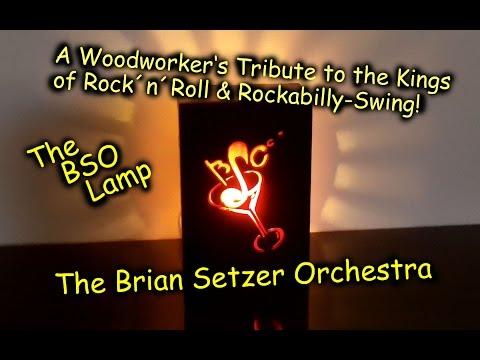 Brian Setzer Orchestra Lamp - Woodworking