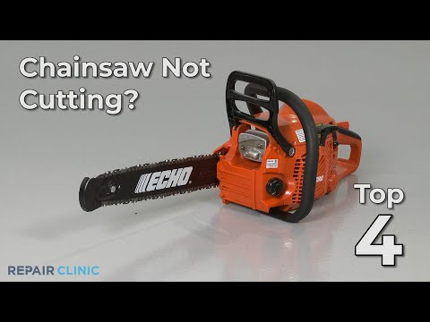 Chainsaw Not Cutting? Chainsaw Troubleshooting