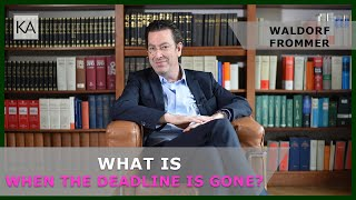 Waldorf Frommer cease and desist letter: What is when the deadline is gone? | attorney Dr. Knies