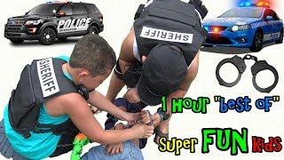1 Hour Best of Cop Kids Skits. Funny Takedown Arrest Compilation.