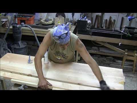 видео: Изготовление двуспальной деревянной кровати от А до Я