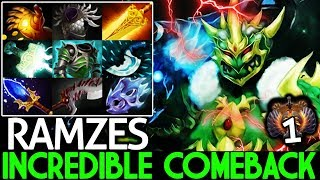 RAMZES [Wraith King] Top Immortal Carry Incredible Comeback Hard Game 7.22 Dota 2