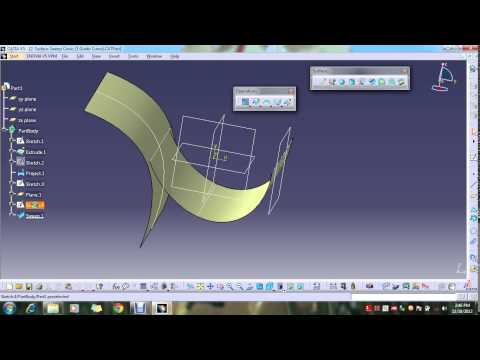 catia sweep surface complete tutorial