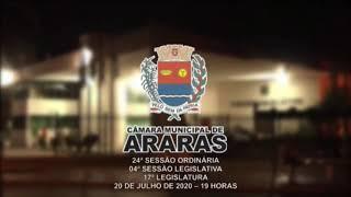 24ª Sessão Ordinária - Câmara Municipal de Araras