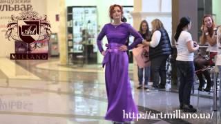 Вечернее платье Art Millano PV001 сиреневого цвета