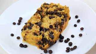 Vegan Pumpkin Bread With Chocolate Chips (Gluten-Free Recipe)