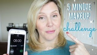 5 MINUTE MAKEUP CHALLENGE!  | Mature Skin