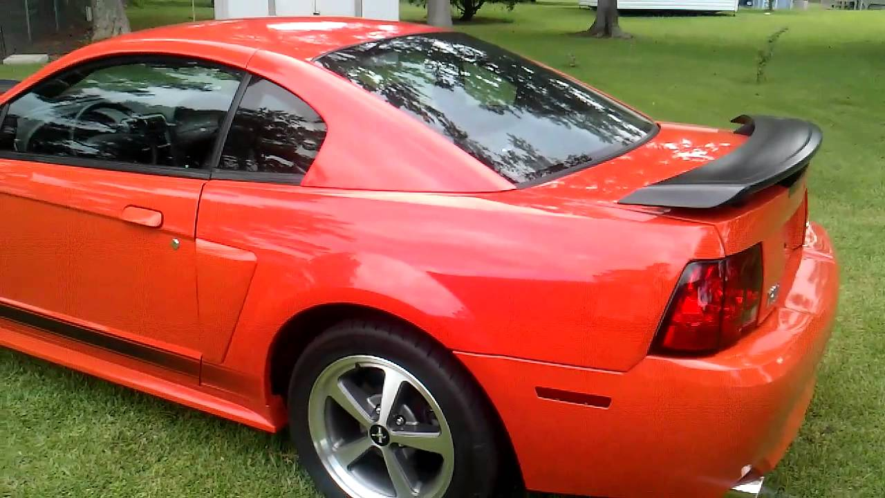 04 Ford Mustang Mach 1 Competition Orange For Sale Youtube