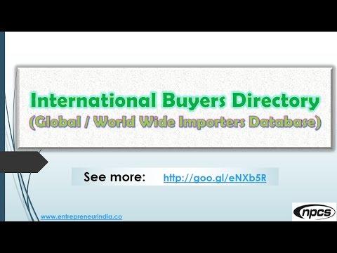 International Buyers Directory Global, World Wide Importers Database