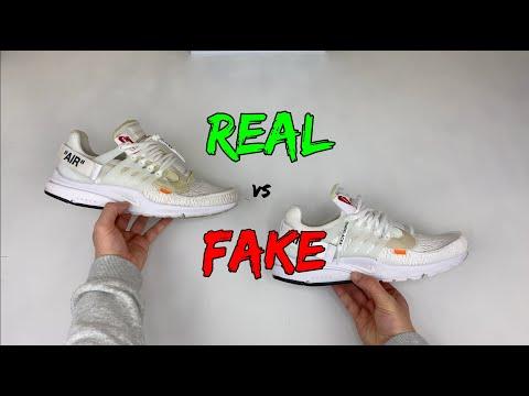 REAL VS FAKE! NIKE X OFF WHITE PRESTO COMPARISON