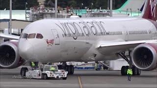 "Virgin Atlantic 787-9 ""Olivia Rae"" Engines Roar To Life on Delivery Flight @ KPAE Paine Field"