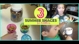 3 Summer Snacks For Toddlers! - Healthy & Delicious