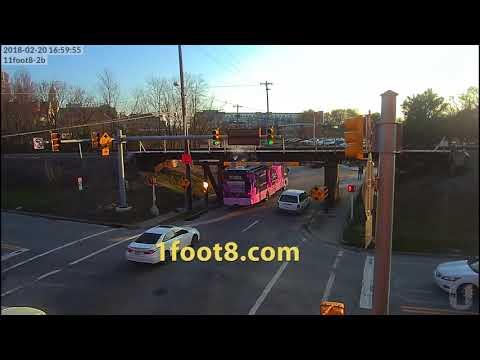 Mobile health RV gets stuck under the 11foot8 bridge
