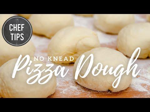 No Knead Pizza Dough Recipe