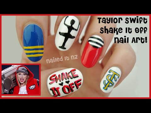 Taylor Swift - Shake It Off | Nail Art Inspired By The Music Video!