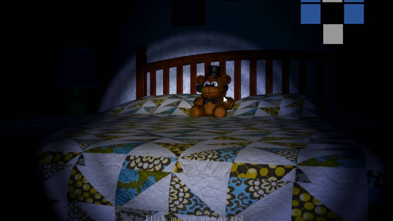 FNAF 4 | Night 1 Complete W/ All Cheats On (No Commentary)
