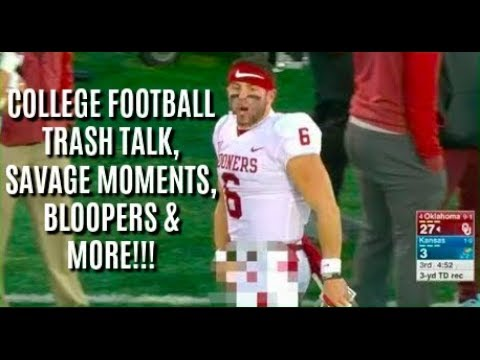 College Football Trash Talk, Savage Moments, Bloopers, And More!!!