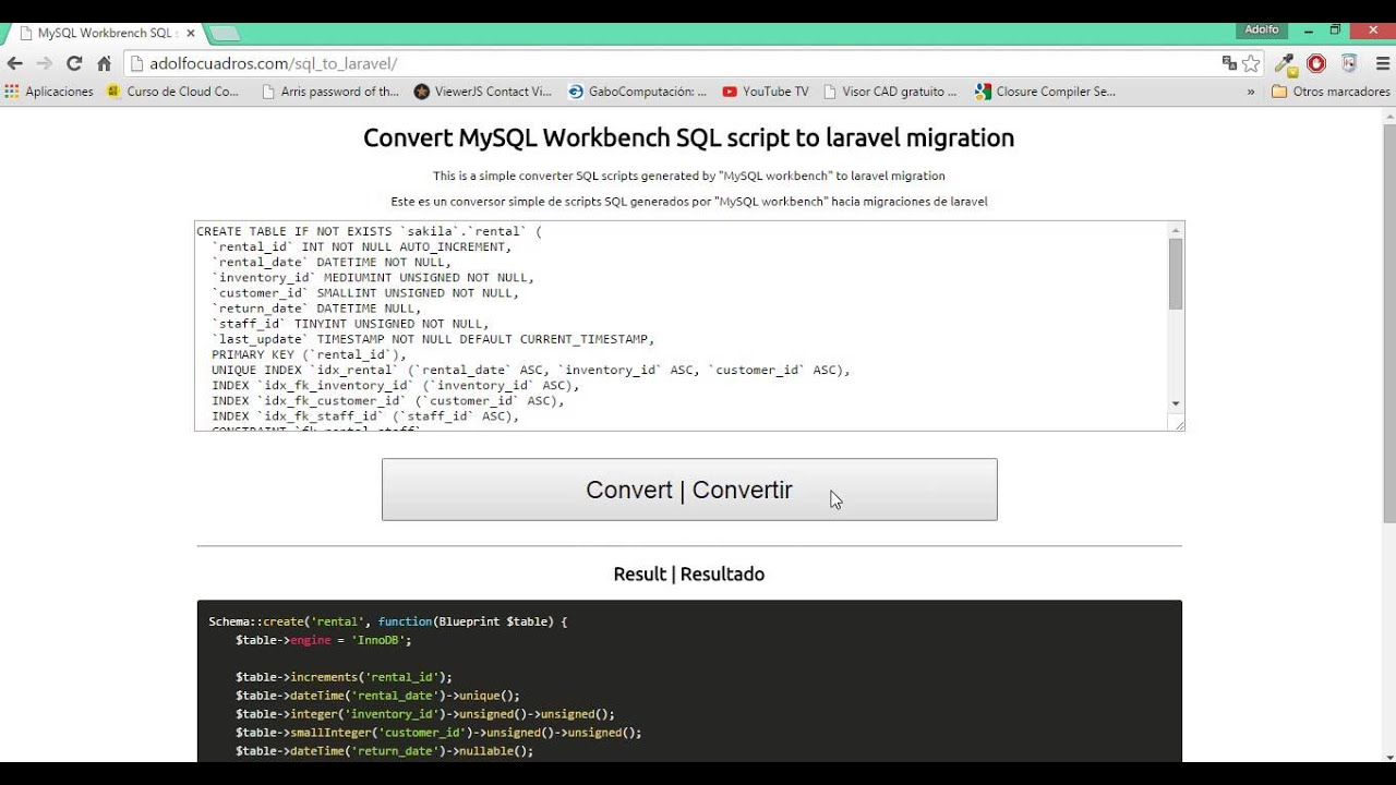 how to run sql script in mysql workbench