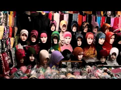 Hijab stalls in Indonesia