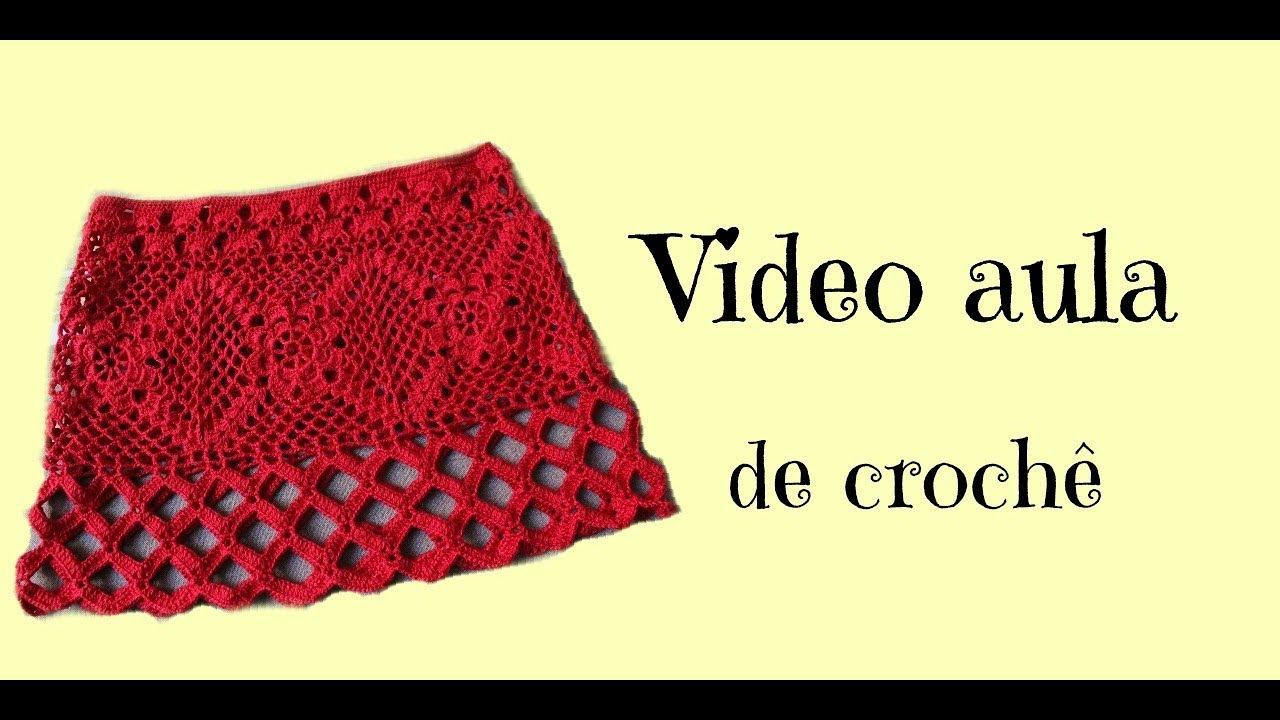 0df597739 Saia de crochê - YouTube