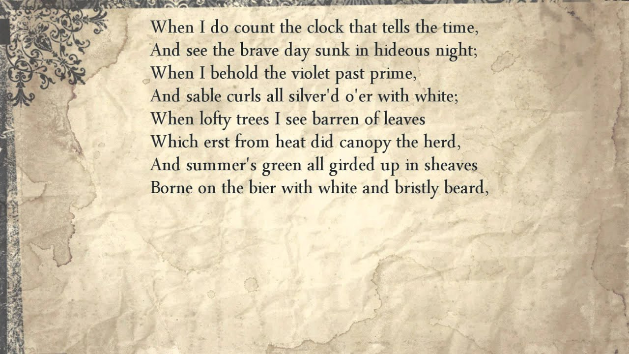 shakespeare sonnet close reading T he problem with reading shakespeare's sonnets is the a shakespeare sonnet is almost as much a synonym many people's close reading model was.