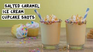 Salted Caramel Ice Cream Cupcake Shots