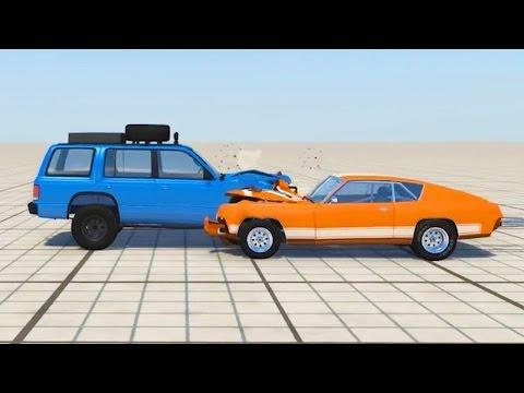 CAR CRASH AT 200MPH IN SLOW MOTION! (BeamNG.Drive)