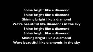 rihanna diamonds lyric video