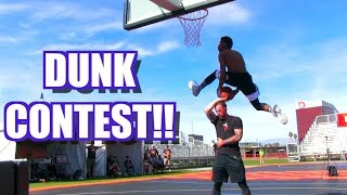 DUNK CONTEST! Chris Staples Takes Down Sir Issac! Video