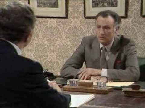Sir Humphrey and Jim Hacker discuss art subsidies