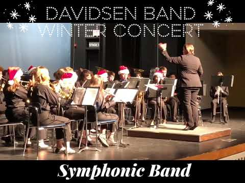 Davidsen Middle School Band Winter Concert December 2019